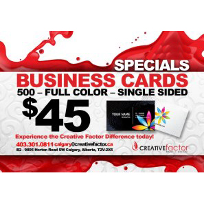 Creative factor calgary design print large format printing business cards creative factor reheart Choice Image