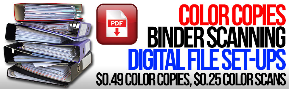 COLOR COPIES,  COLOR SCANNING,  CREATIVE FACTOR INC,  CALGARY
