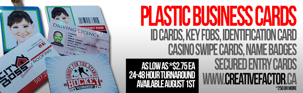 PLASTIC CARDS, KEY TAGS, ID CARDS, SECURITY CARDS, SWIPE CARDS IN CALGARY