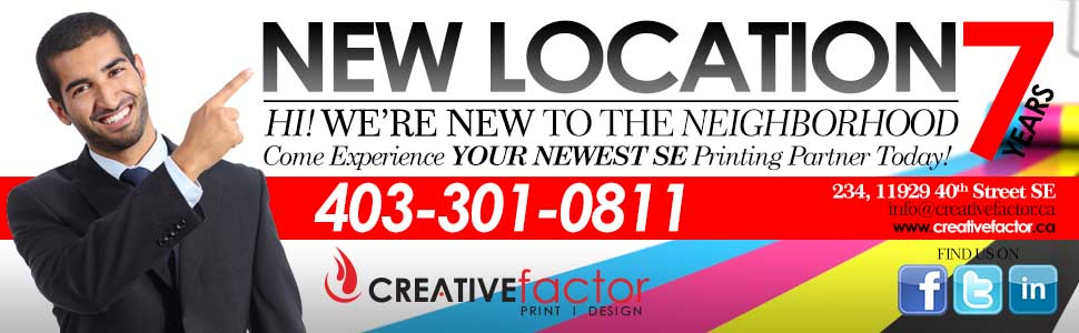 Douglas Dale Printing – NEW ADDRESS – Creative Factor, YOUR SE Calgary Printing Partner – Printing